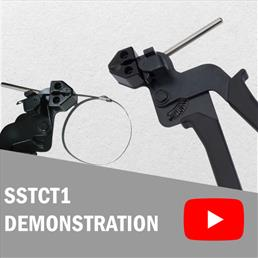 Stainless Steel Cable Tie Tensioning Tool Demo